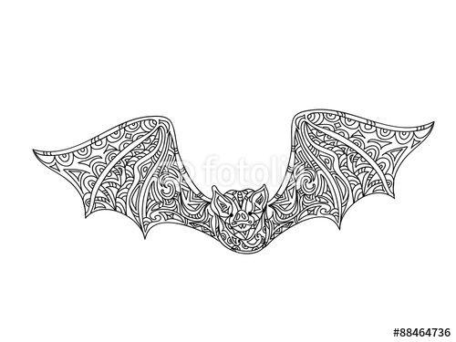 Image Result For Bat Zentangle Bat Coloring Pages Colour Images