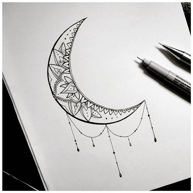 moon tattoo art drawing on instagram tattoos pinterest. Black Bedroom Furniture Sets. Home Design Ideas