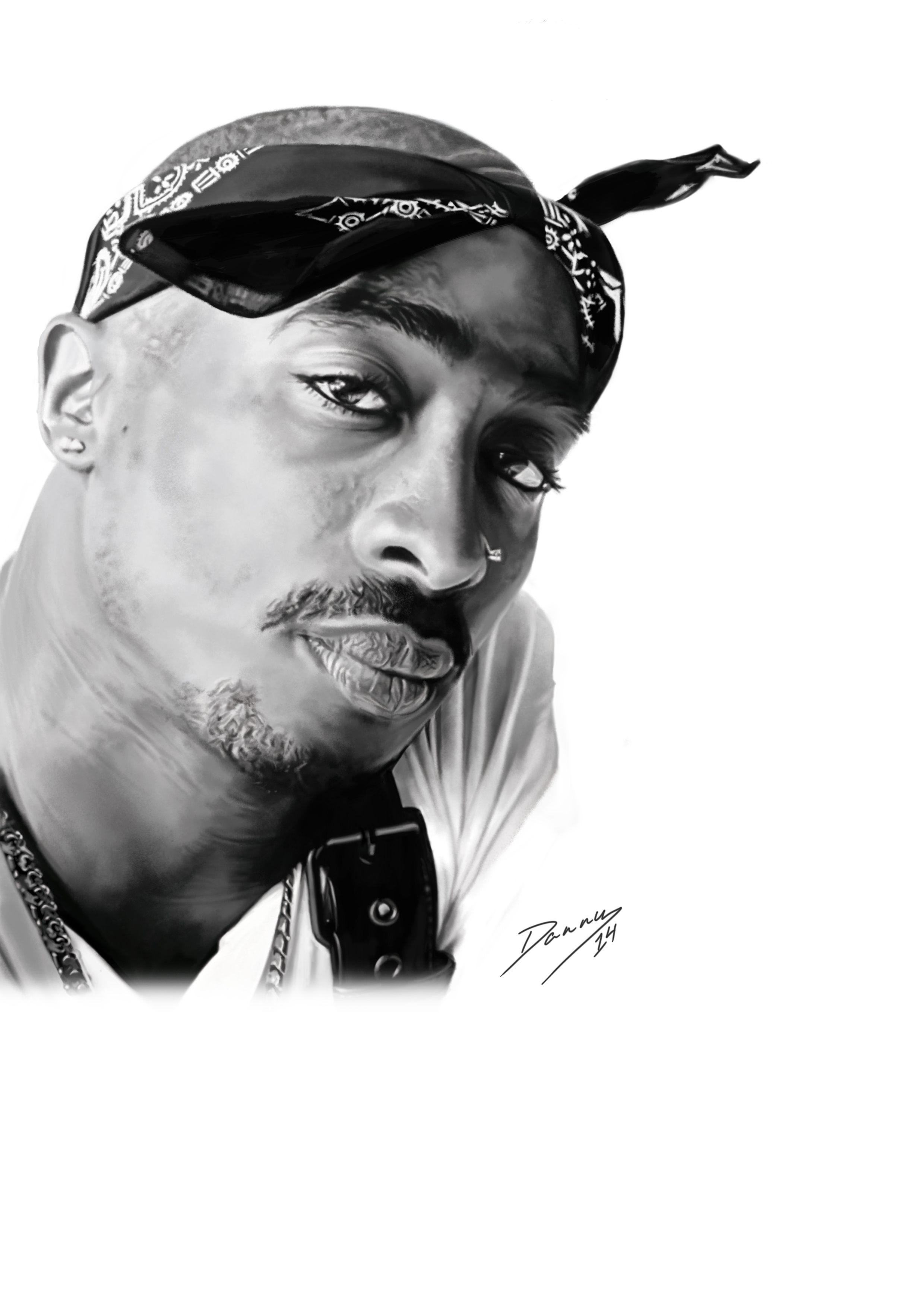 tupac shakur drawings tupac shakur black and white