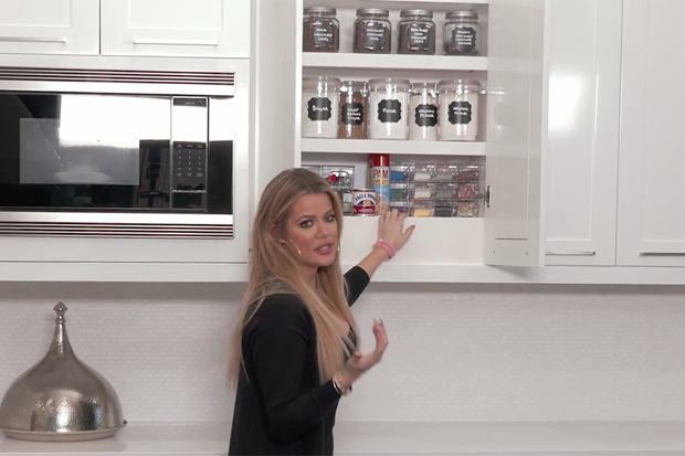 this is what khlo kardashian keeps in her baking cabinet. Black Bedroom Furniture Sets. Home Design Ideas