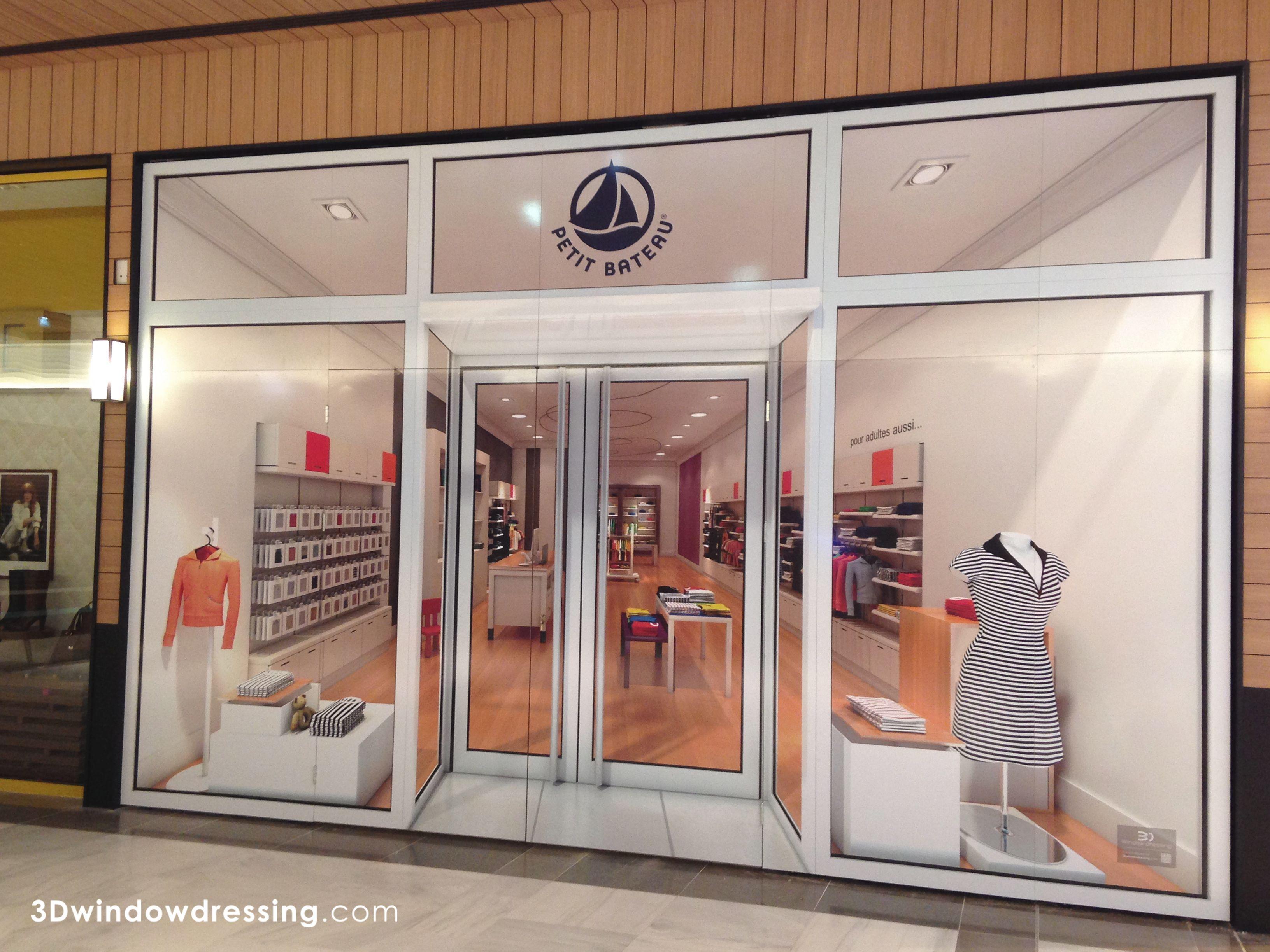 3d window dressing petit bateau was installed in. Black Bedroom Furniture Sets. Home Design Ideas