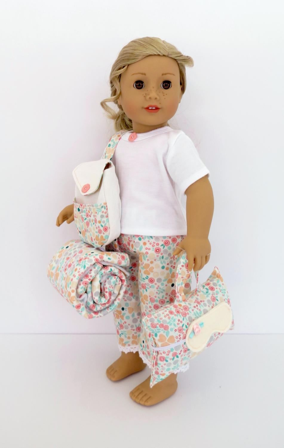 American Girl® Tenney Grant® inspired Doll SLEEPOVER SET Handcrafted ...