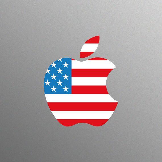 American Flag Apple Bing images Macbook decal, Flag