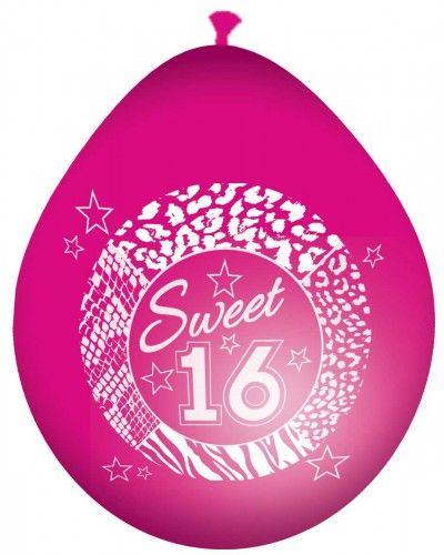 Roze Sweet 16 ballonnen.