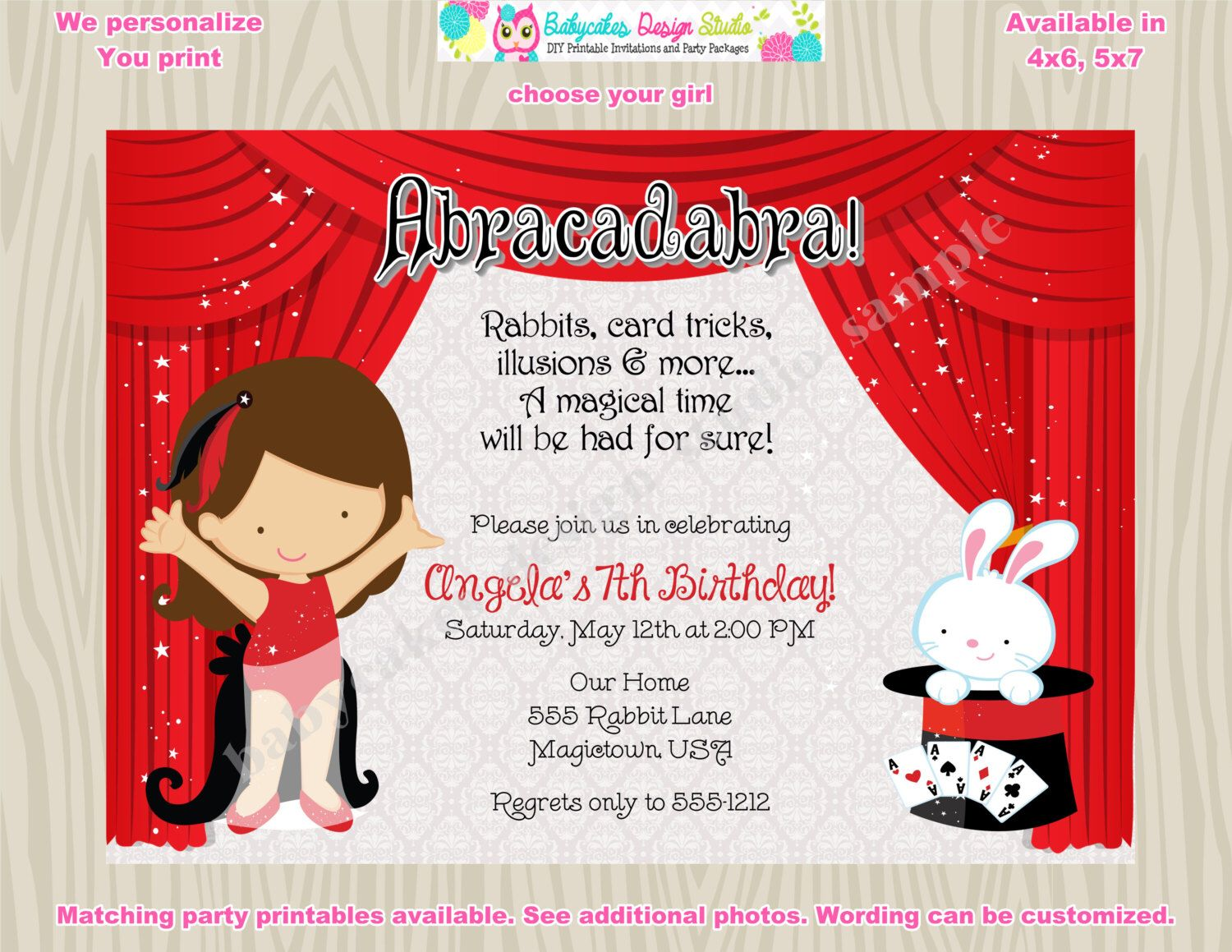 Magic Show Invitation Magic Show birthday invitation magic show ...