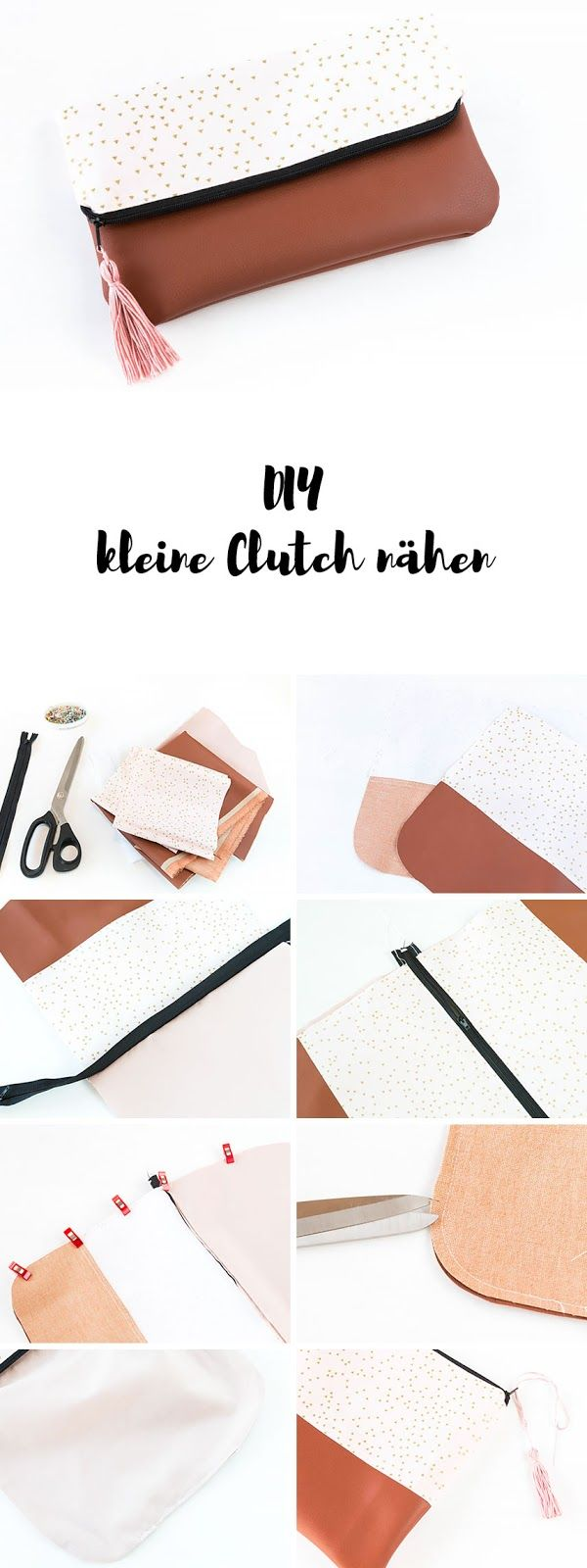 Photo of Nähen DIY Clutch Make Up Bag – DIY Geschenk | ars textura – DIY Blog