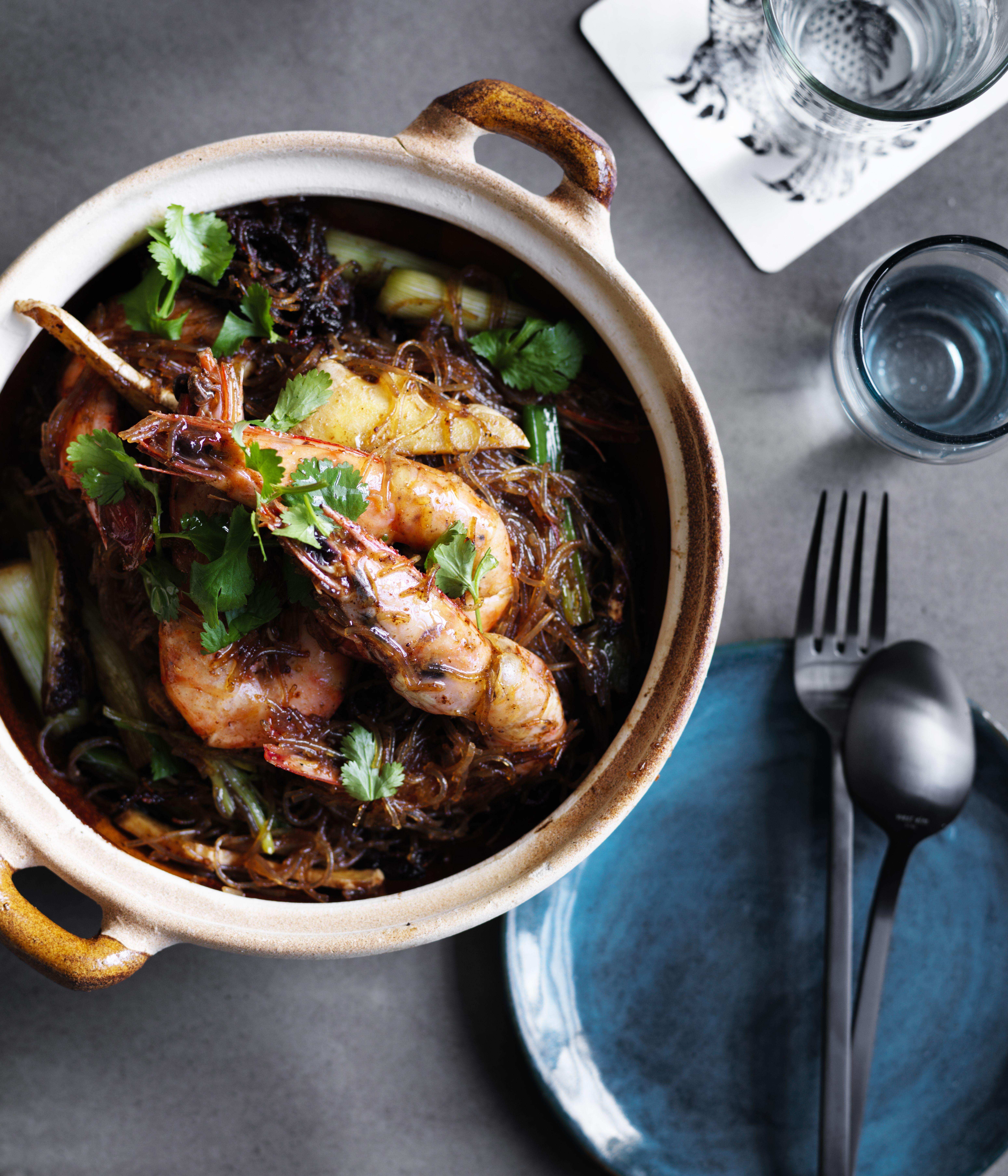 David Thompson's prawns baked with vermicelli recipe #davidthompson