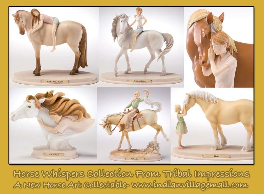 Horse Whispers - A New Horse Art Collectable  Review the collection off of: http://www.indianvillagemall.com/horsewhisper.html