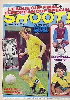 Shoot Football Magazine March 1975 Football Newspaper Cover Leeds United