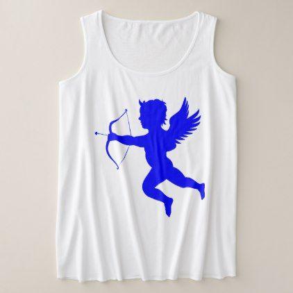 Blue Boy Angel Women's Plus-Size Tank Top - girl gifts special unique diy gift idea