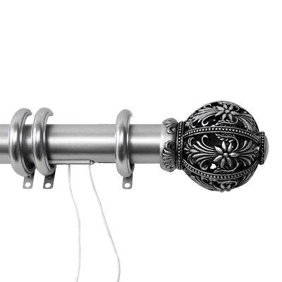 Astoria Grand Silberman Decorative Traverse Single Rod Size 84