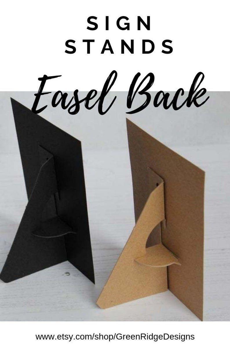 Easel Back Sign Holder Photo Display Table Top Easel Etsy In 2021 Paper Photo Frame Diy Diy Easel Cardboard Crafts Diy