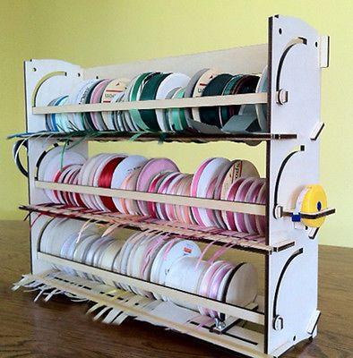 Ribbon Storage Rack Organizer Holder 80 Spools Ribbon Storage