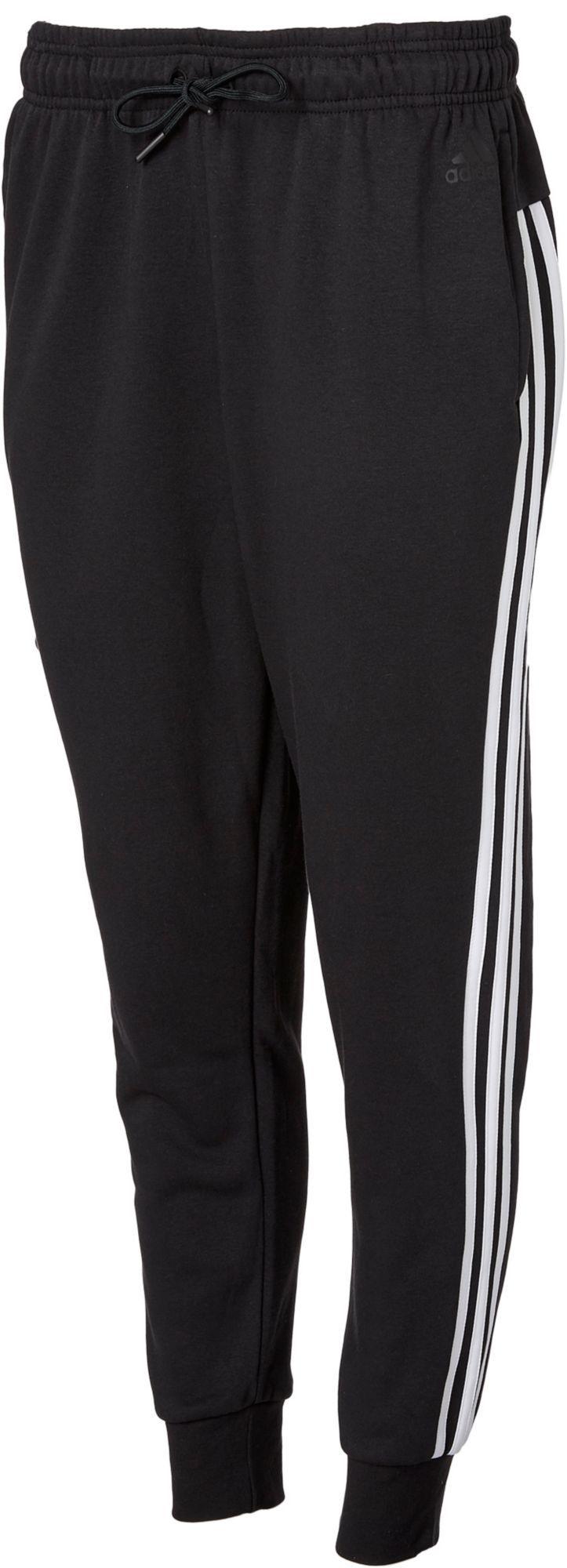 328d356b adidas Women's Essentials Cotton Fleece 3-Stripes Jogger Pants, Size: XS,  Black