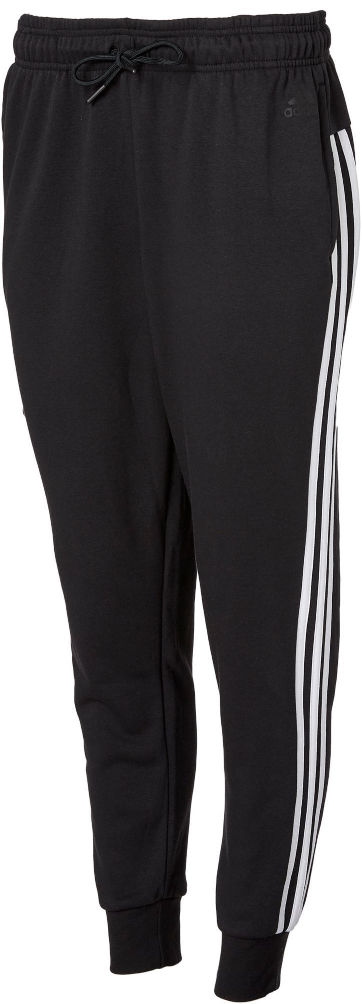 98f1f1823ef308 adidas Women's Essentials Cotton Fleece 3-Stripes Jogger Pants, Size: XS,  Black