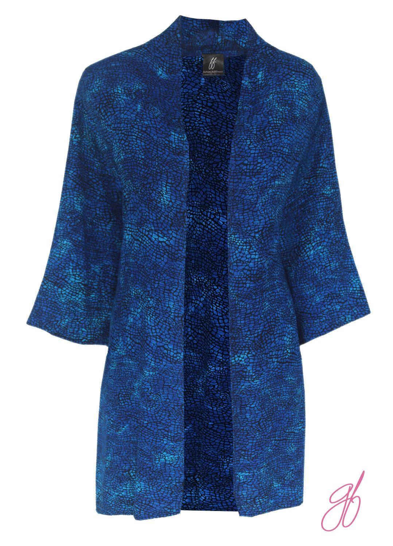 Duster Kimono Jacket, Oversized Kimono Cardigan Jacket, Blue ...
