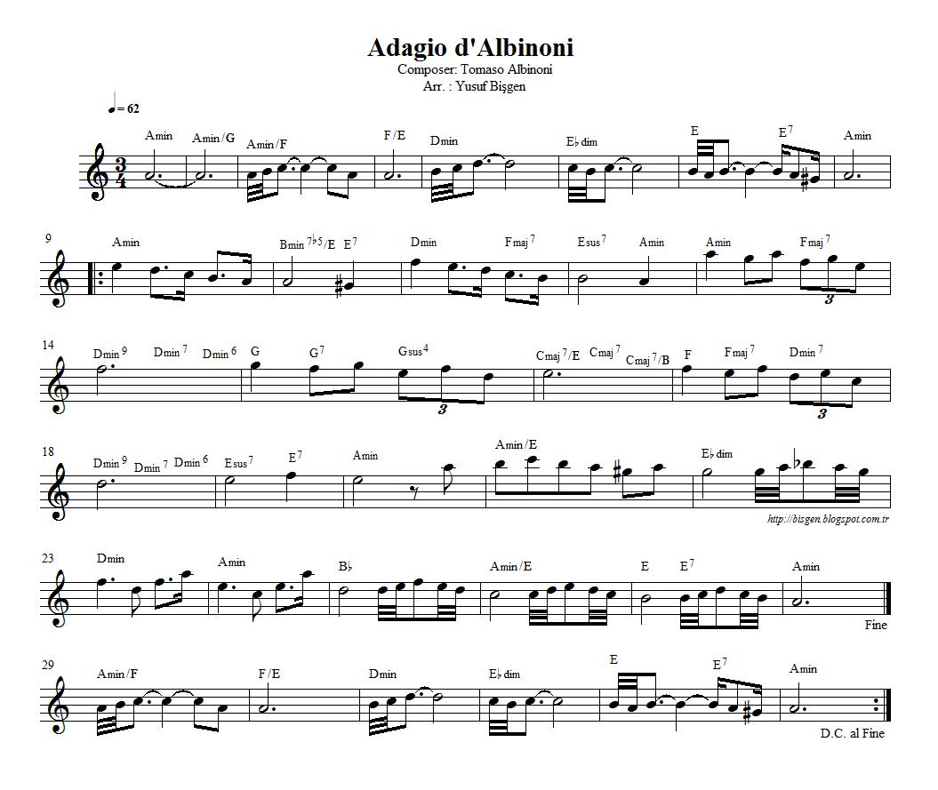 Bisgen Elvitodella Nota Akor Elikplayback Adagio For Flute