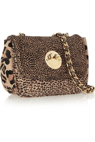 Leopard-print calf hair (Calf) Twist lock-fastening front flap Weighs approximately 2lbs/ 0.9kg Made in England