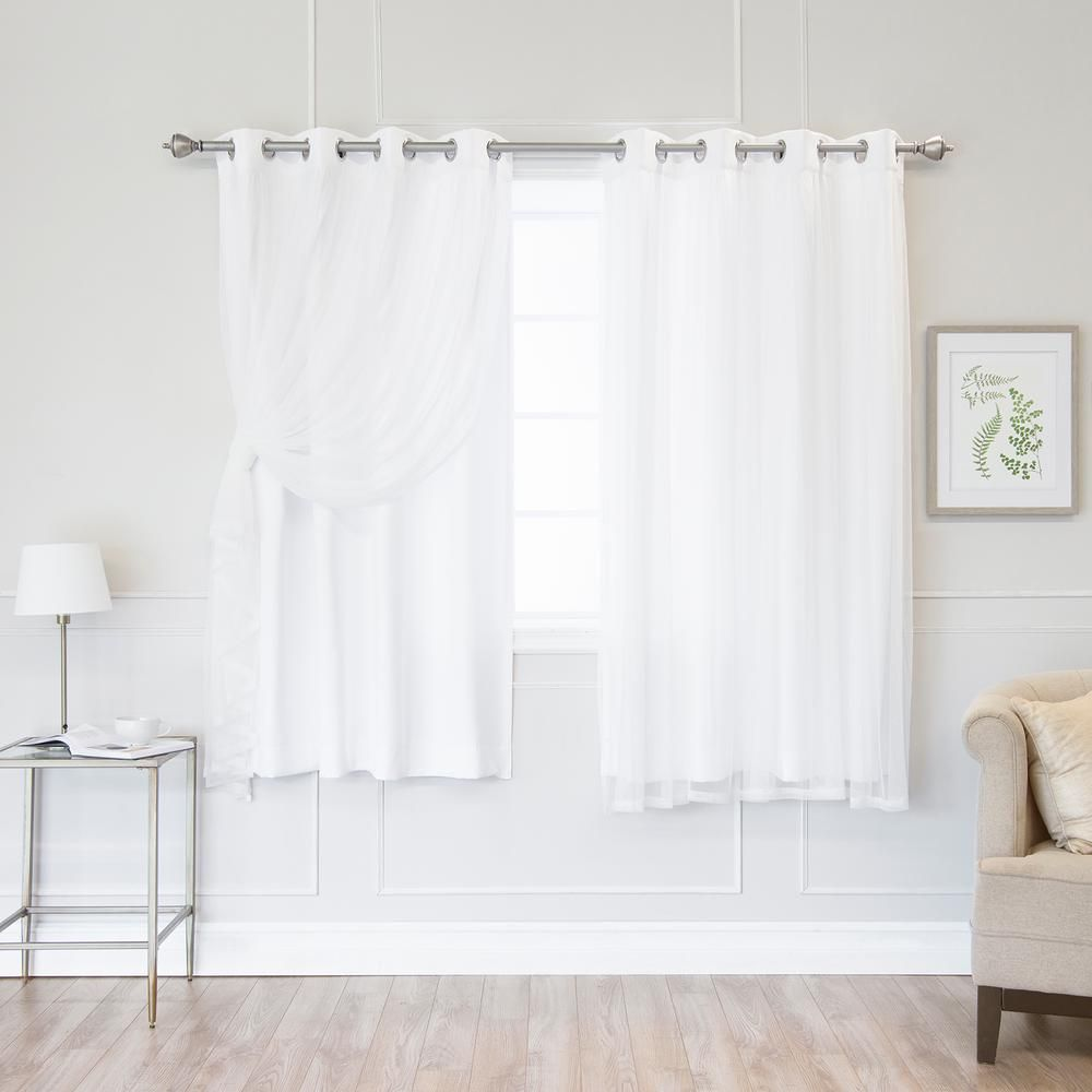 Best Home Fashion 63 In L White Marry Me Lace Overlay Room