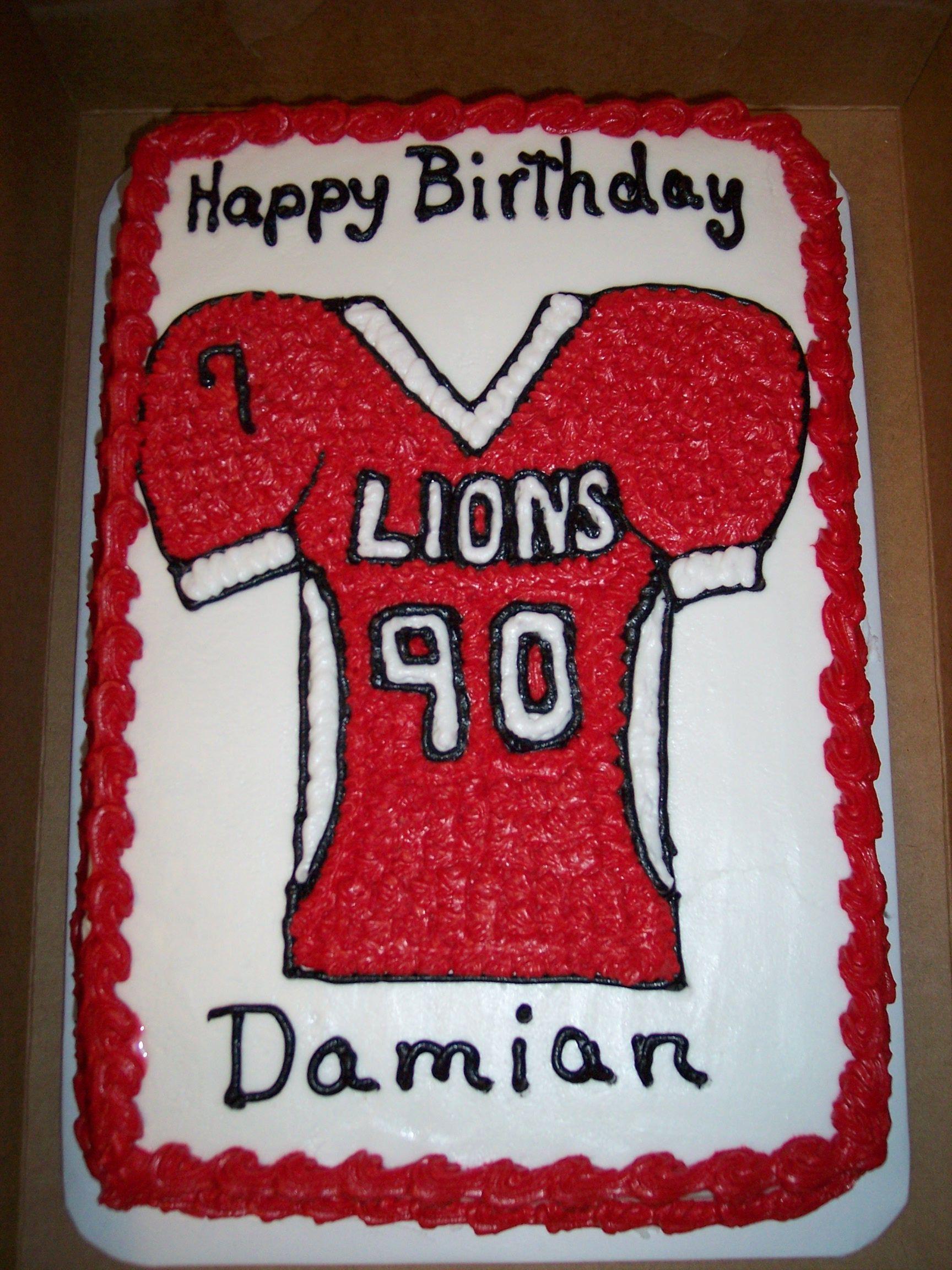 Football jersey birthday cake cupcake cookies