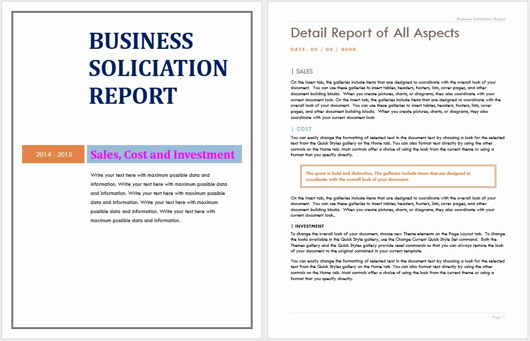Pin On Business Reports Template In Ms Word