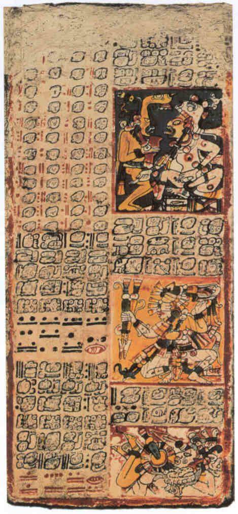 Fragmento del Codice de Dresde (codice maya) | CÓDICES