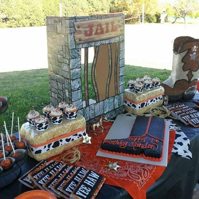 52 cowboy themed boy birthday party ideas - Western Party Decorations