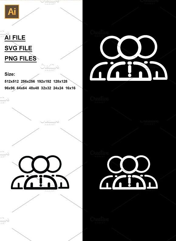 Group Icon Design Icon Svg