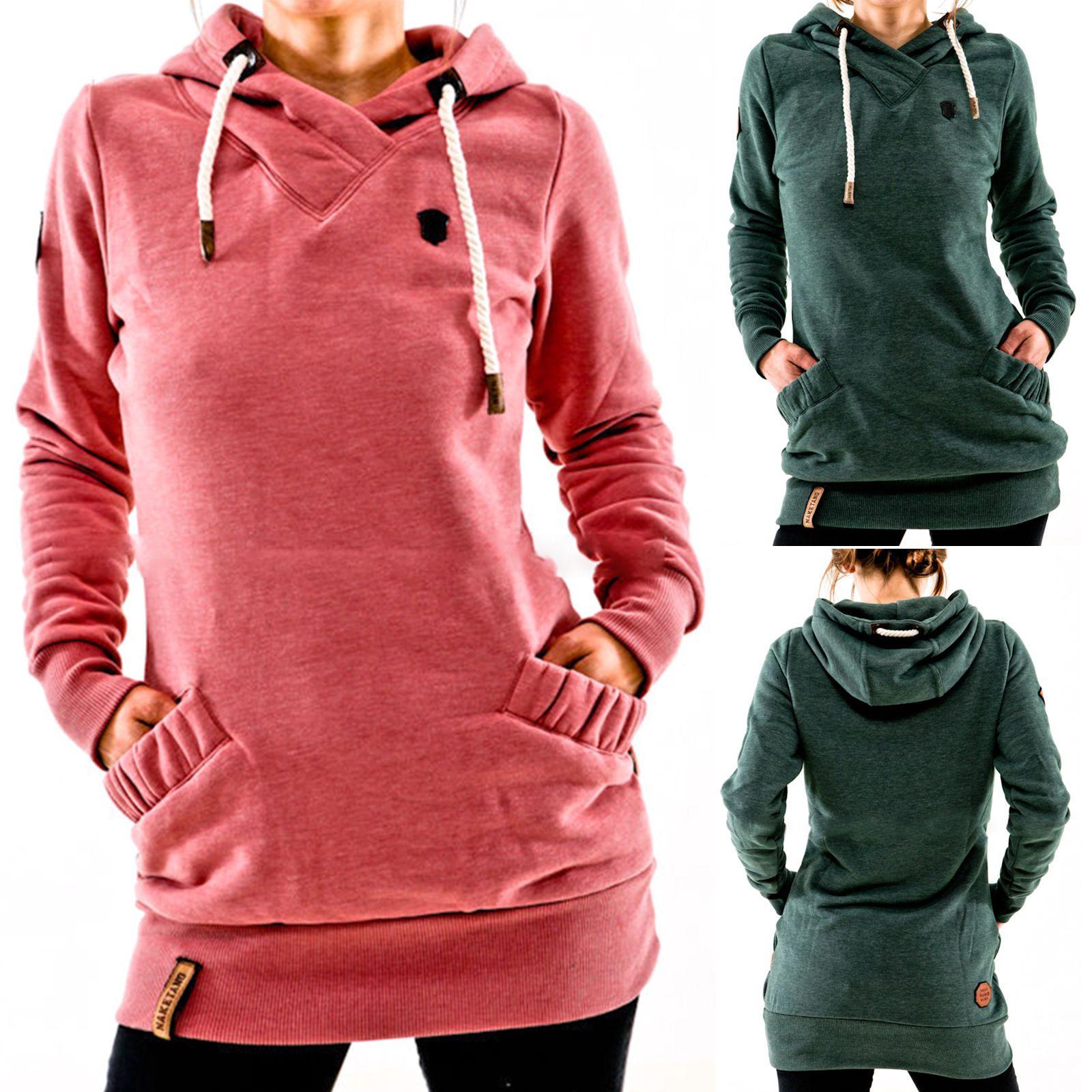 Femme Capuche Capuche Manches Longues Pull Pull Manche Longue Survêtement  Haut in Vêtements, accessoires, Femmes  vêtements, Sweats, vestes à  capuches   ... 876962c45012
