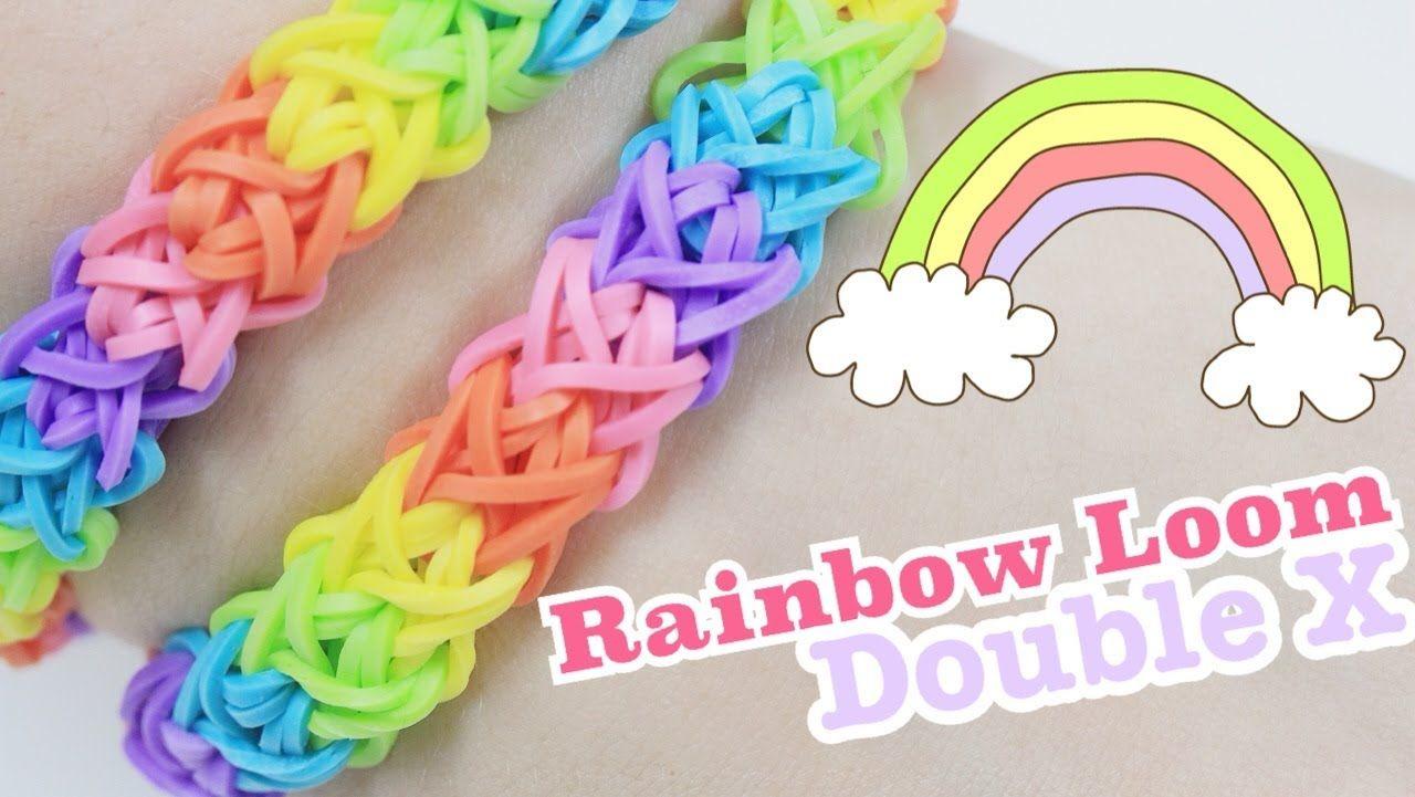 rainbow loom double x bracelet tutorial rainbow loom