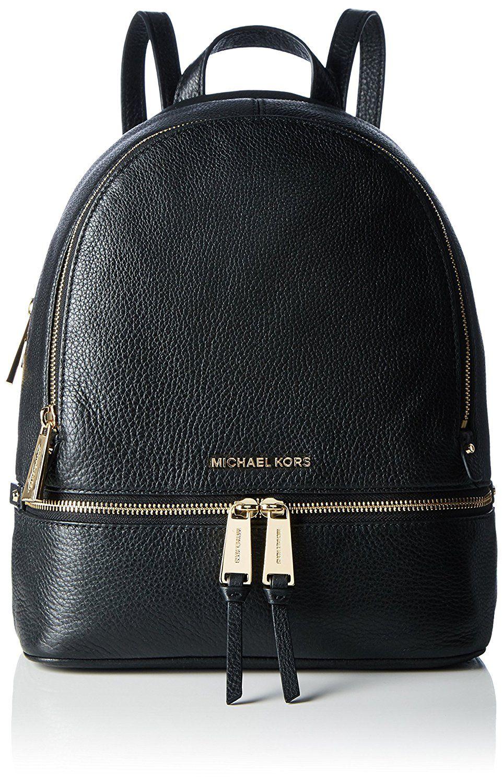 MICHAEL Michael Kors Rhea Zip Medium Bi-Color Leather Backpack ...