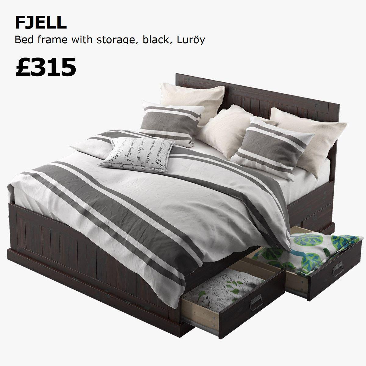 Ikea Fjell Bed 3d Model 3d Model 3d Modeling Pinterest # Muebles La Moheda