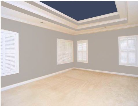 What Color Should I Paint The Tray Ceiling In My Bedroom Bedroom Paint Colors Master Tray Ceiling Bedroom Colored Ceiling