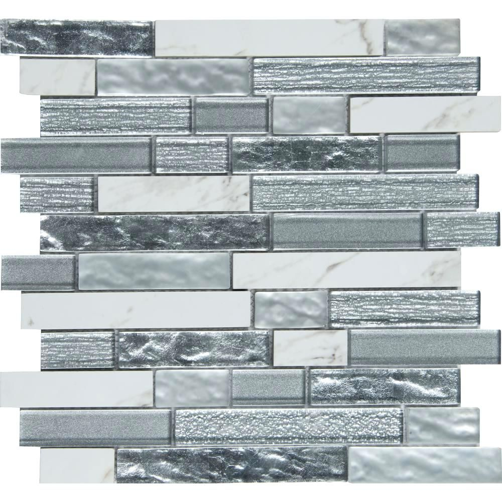 - Misty Sea Glass Backsplash Tile Glass Mosaic Tile Tile The Home
