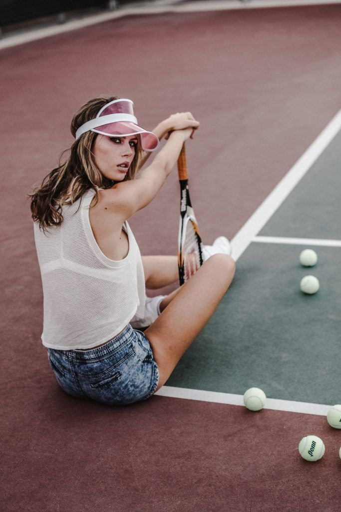 Tennis Court Editorial Photoshoot Carmelisse Photography