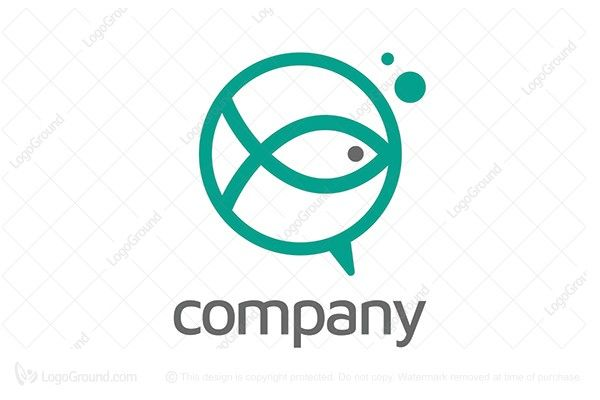 Exclusive Logo 69621, Talk Fish Logo Talk Fish Logo PREMIUM LOGOS FOR SALE