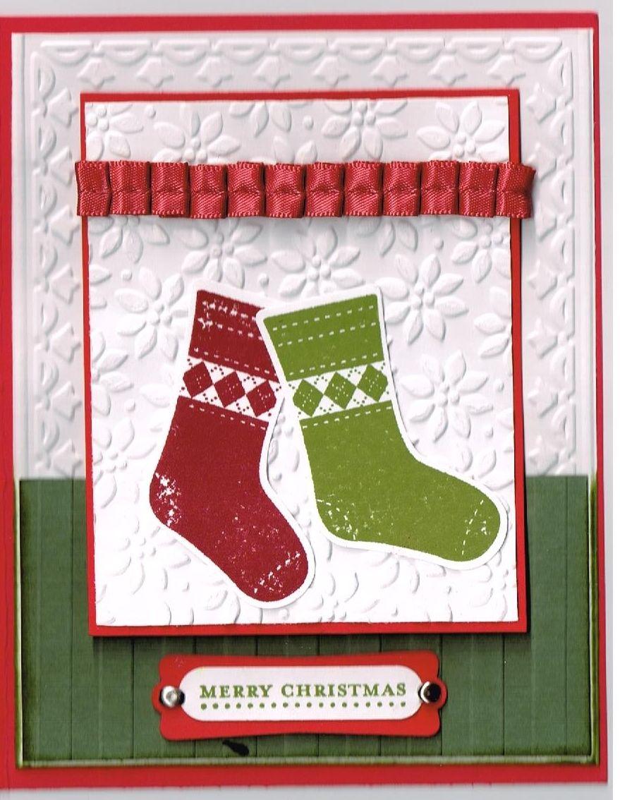 Stampin Up Stitches Stockings