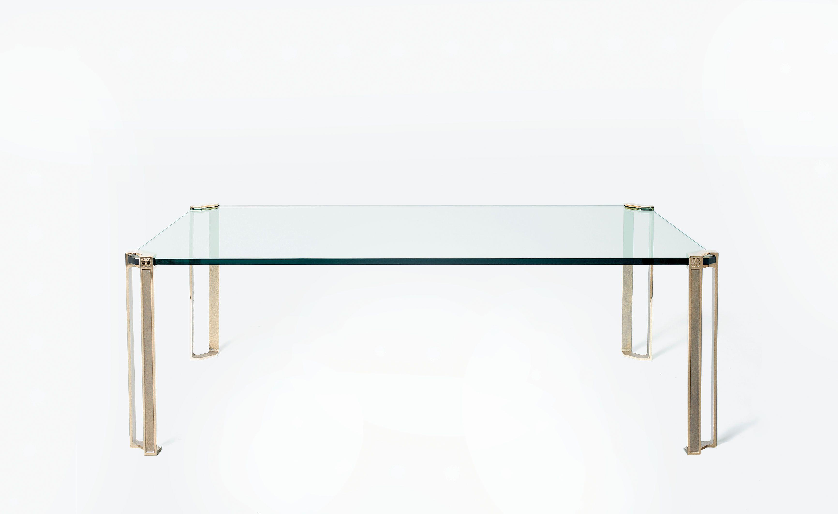 Table Basse Carrée Ou Rectangulaire 1 Plateau En Verre Pieds