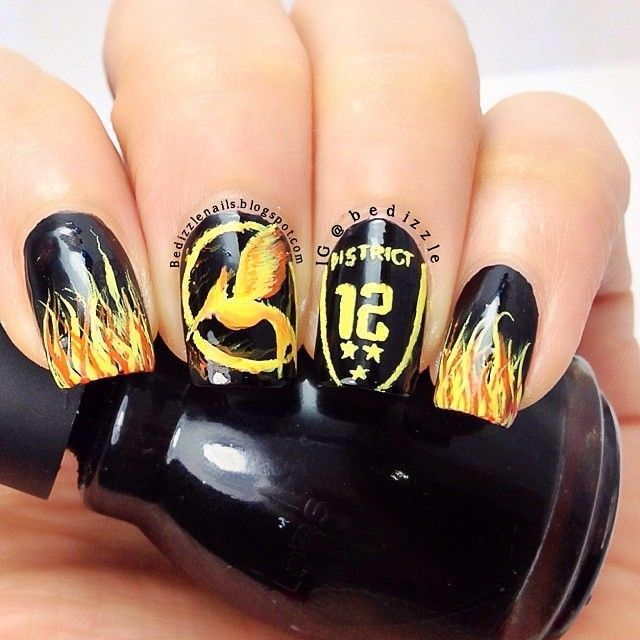 hunger games by bedizzle #nail #nails #nailart https://noahxnw ...