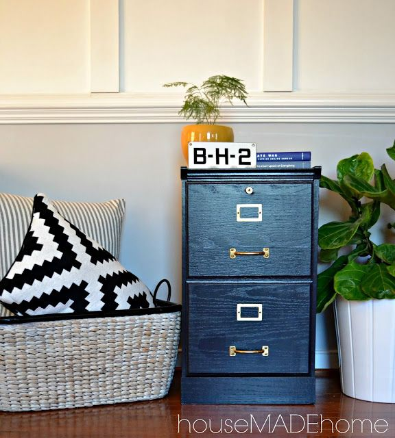 House Made Home: Put Some Files In It!  Paint the maple file cabinet as a bedside table for the guest room.