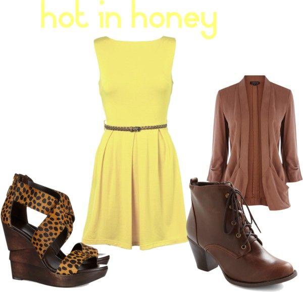Hot in Honey #yellow #fashion #dress