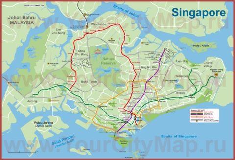Karta Metro Singapura Singapur Karta Karty Goroda