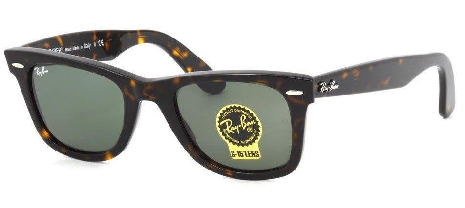 6785424df0029 Sunglasses Ray Ban Wayfarer RB2140 902 Tortoise havana Frame Green Lens 50-22  mm