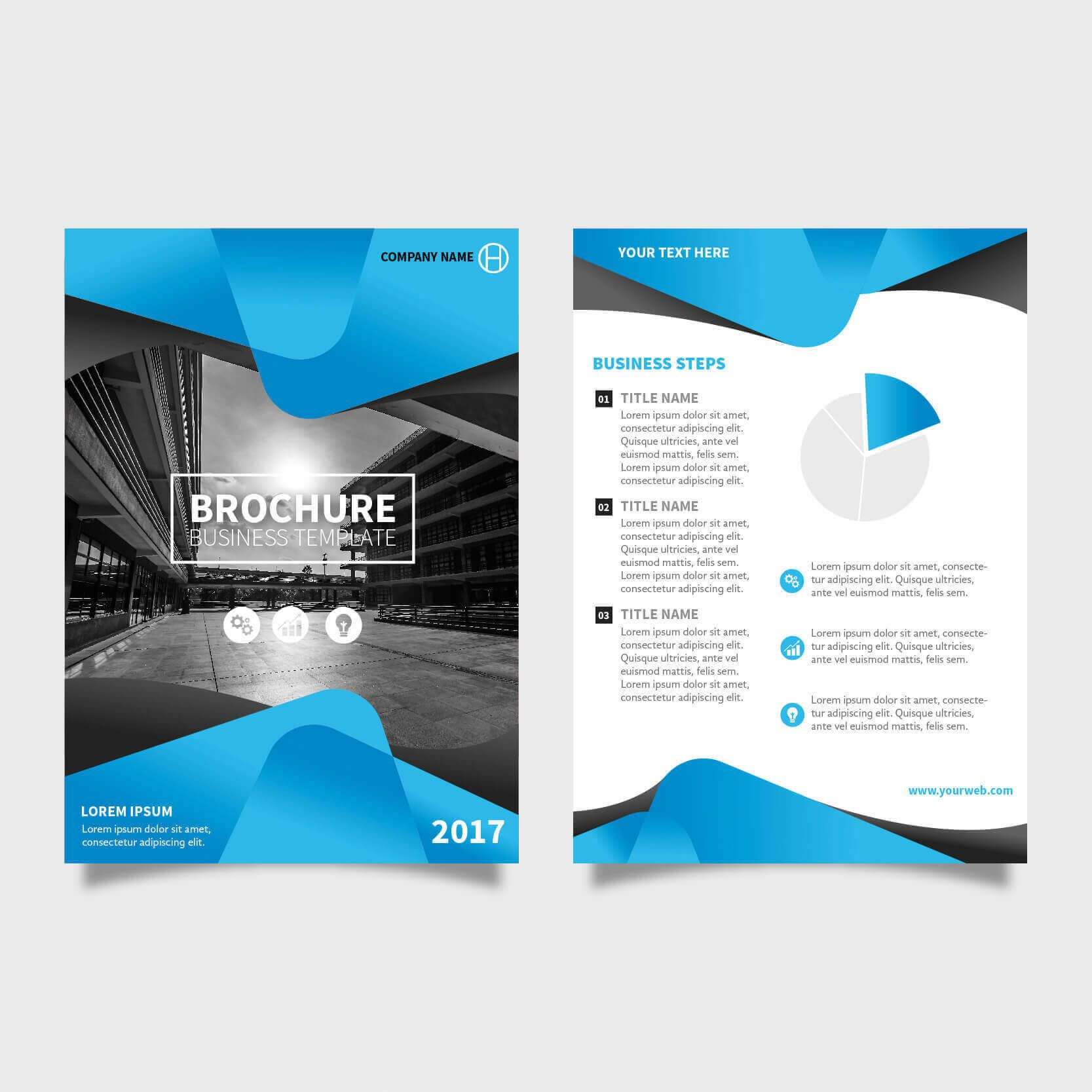 Two Page Brochure Design Poster Pinterest Design Portfolios - Two page brochure template