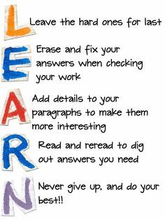 acrostics examples | Mnemonic Board for Study Skills | Pinterest ...