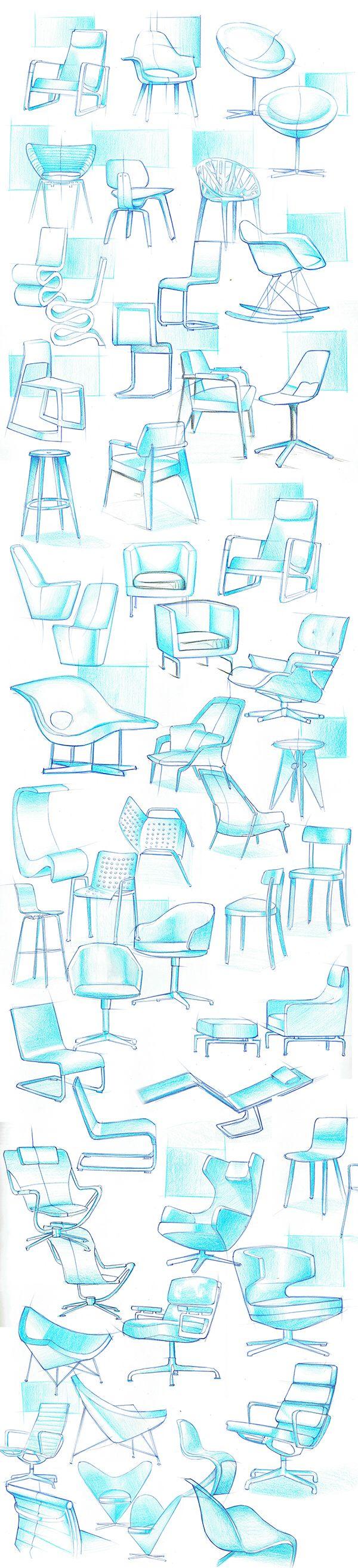 Muebles Architecture Pinterest Sillas Bocetos Y Industrial # Muebles Dibujo Arquitectonico