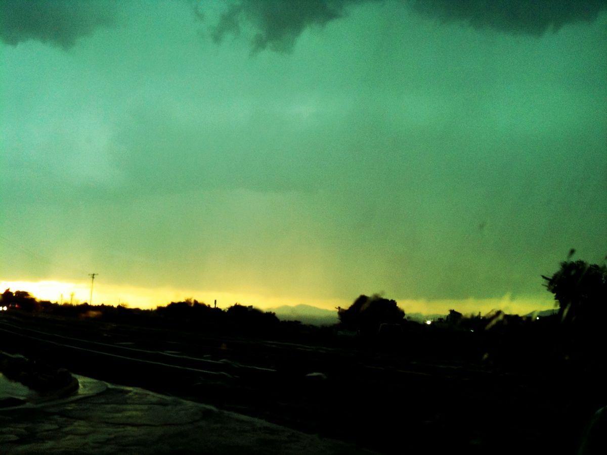 Výsledek obrázku pro green sunset