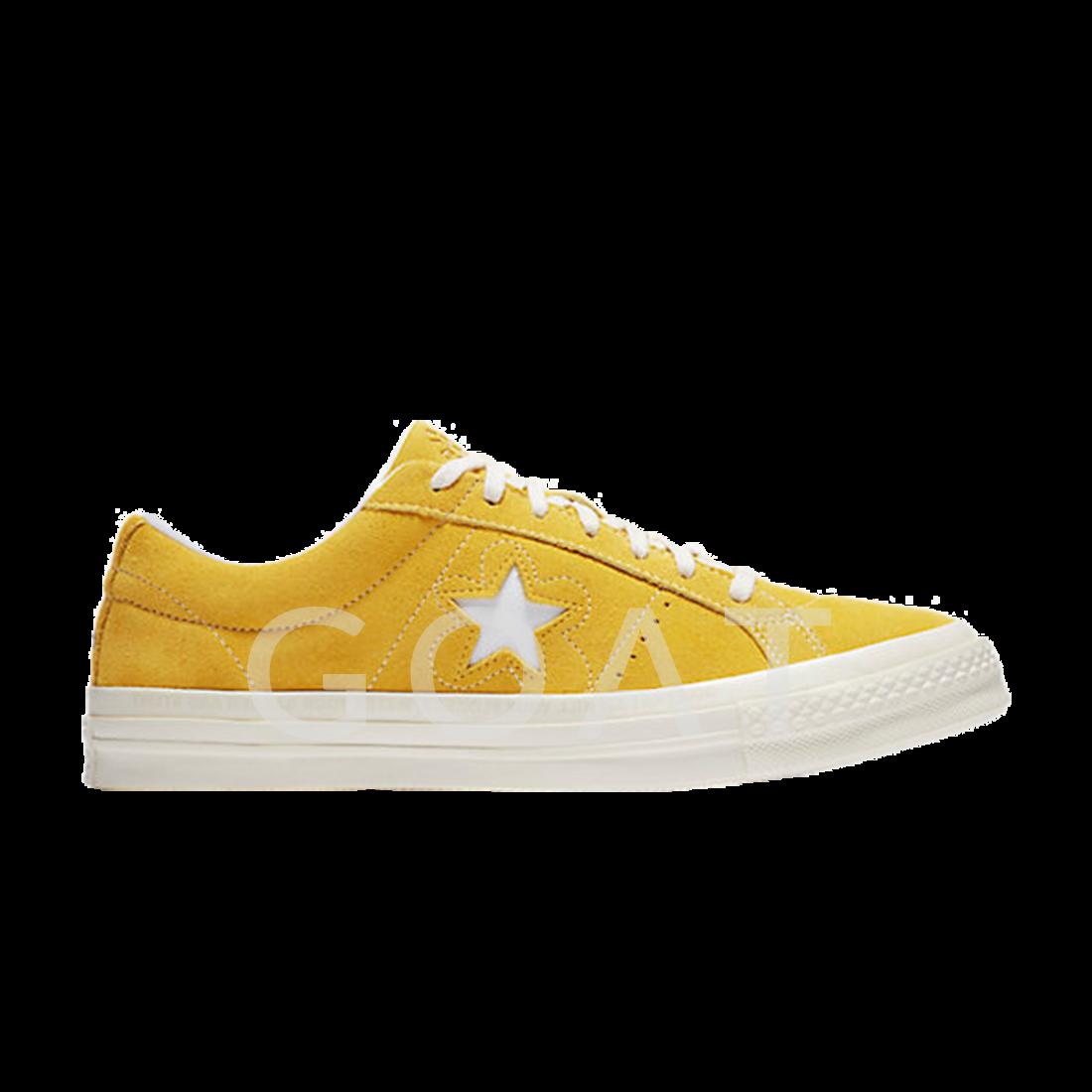 Golf Le Fleur X One Star Suede Converse 159435c Yellow Goat