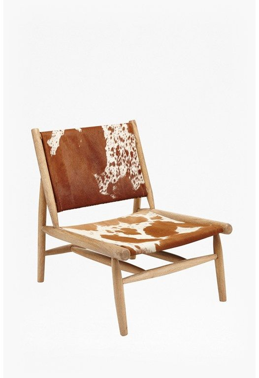 Genial Cowhide Leather Chair More