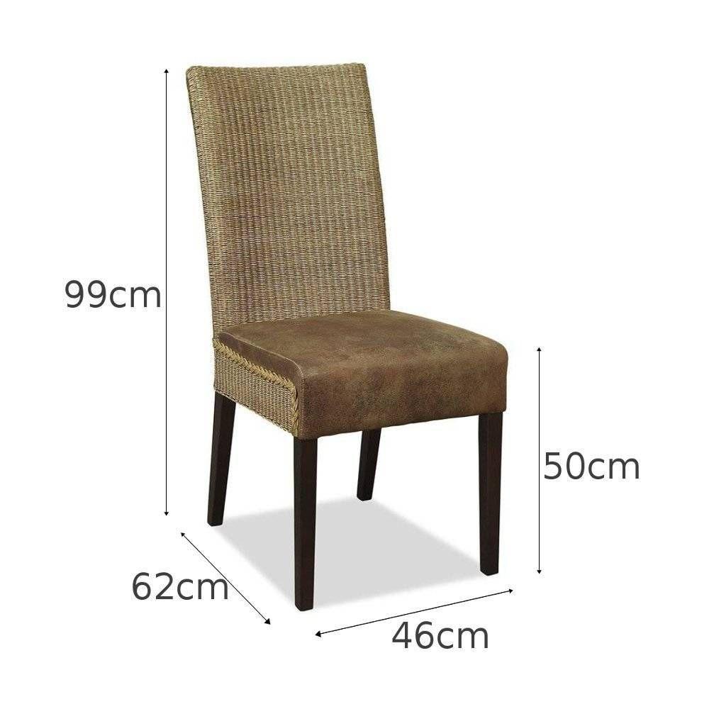 Cadeira Rústica Estofada em Rattan Ibiza - 2 cadeiras   Diy wood ...